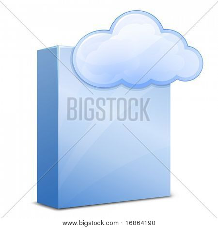 Cloud Software Service. Vector Illustration for Cloud Hosting