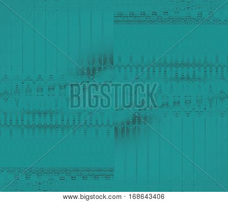 Abstract geometric seamless background. Regular ellipses and stripes pattern turquoise green with gray elements, blurred.