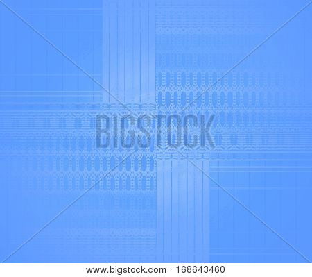 Abstract geometric seamless background single color. Regular shiny ellipses and stripes pattern in azure blue shades shifted, centered and blurred.