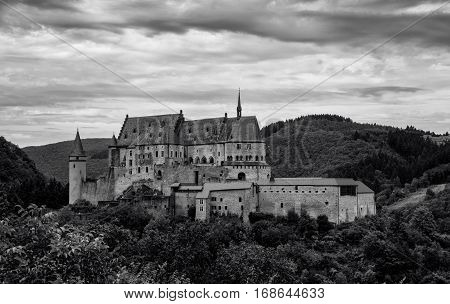 A Luxembourg Castle overseeing the beautiful natural country side