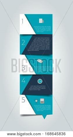 Blue schedule, tab, banner. Minimalistic vector design infographic.