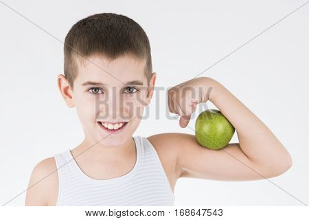 green apple per day and healty kid