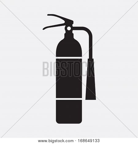 Fire extinguisher. Vector icon isolated on grey background.