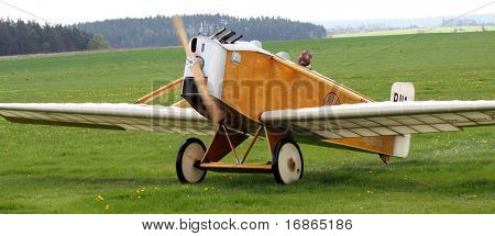 Historic plane Avia BH 2 in airport Plasy - Czech Republic Europe