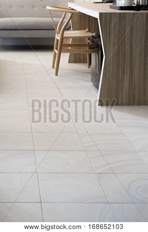 White Modern Living Room wooden furniture floor tile