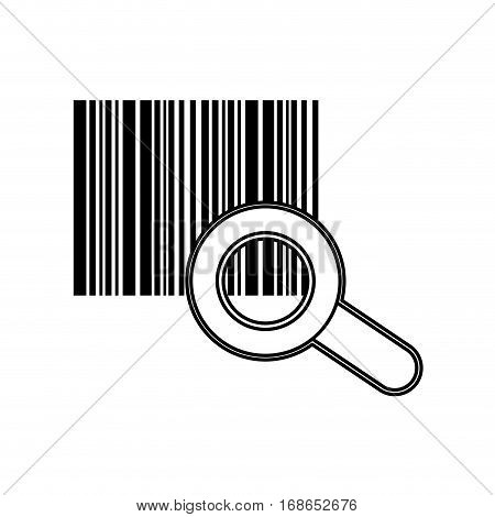 Bars code system icon vector illustration graphic design