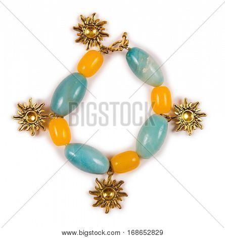Elegant bracelet isolated on white background