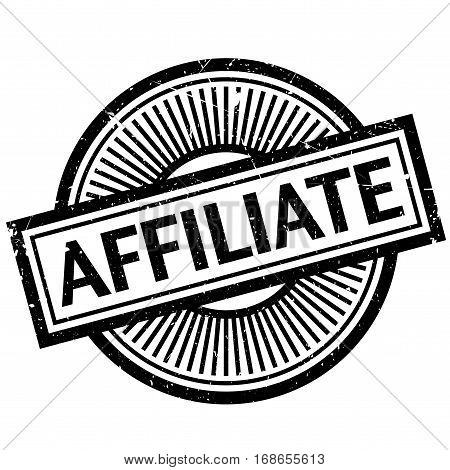 Affiliate stamp. Grunge design with dust scratches. Effects can be easily removed for a clean, crisp look. Color is easily changed.