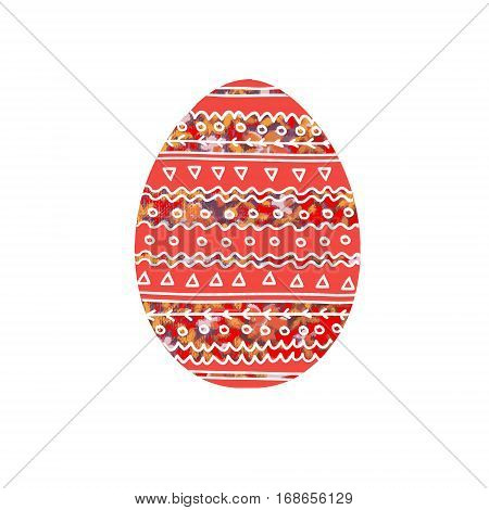 Easter egg.Image of an egg with floral ornament