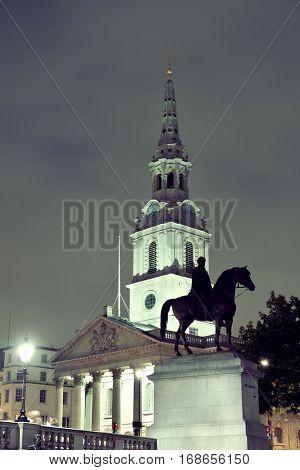 St Martin in the Field church in Trafalgar Square in London