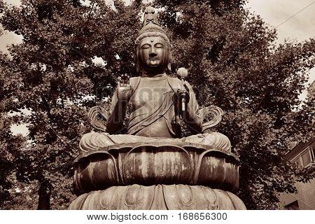 Buddha statue in Sensoji Temple, Tokyo, Japan.