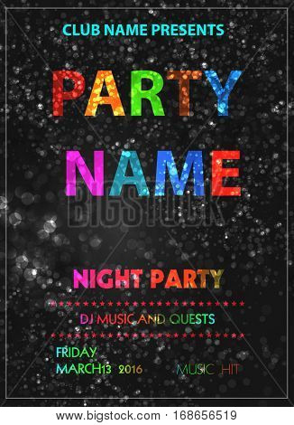 party poster easy all editable