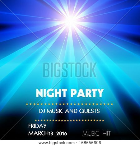 Club Disco Party easy all editable