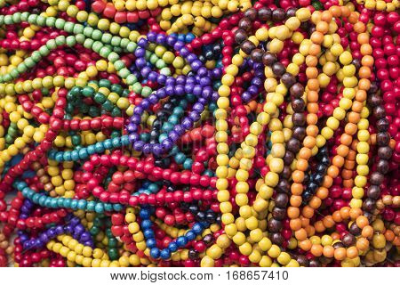 Multi colored handmade beads and necklaces