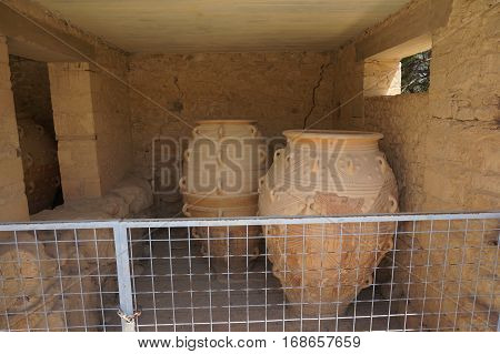 amphora crete greece antiquity summer grotto holiday