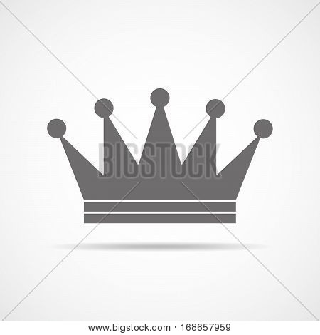 Gray crown icon. Crown silhouettes isolated on white background. Vector illustration.