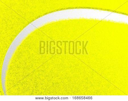Tennis ball texture closeup background. 3D illustration.