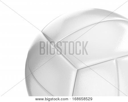 Volleyball ball on a white background. 3D illustration.