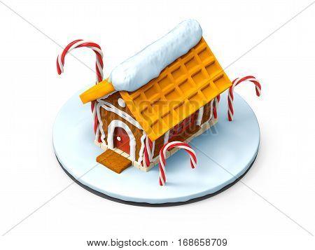 Gingerbread House Cartoon