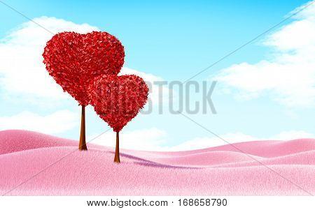 Heart Trees Landscape