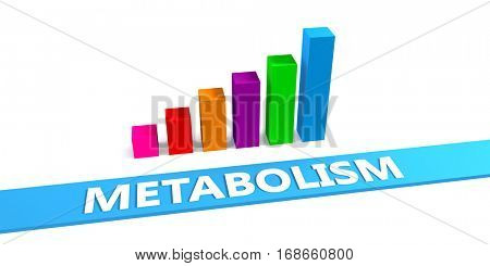 Great Metabolism Concept with Good Chart Showing Progress 3d Illustration Render