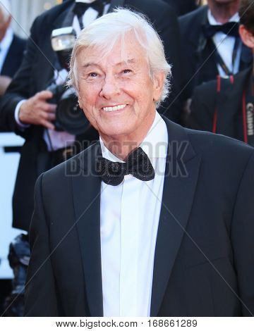 Paul Verhoeven attends the 'Elle' Premiere during the 69th annual Cannes Festival at the Palais des Festivals on May 21, 2016 in Cannes, France.