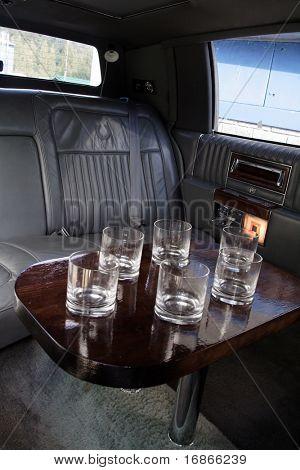 Classic limousine interior