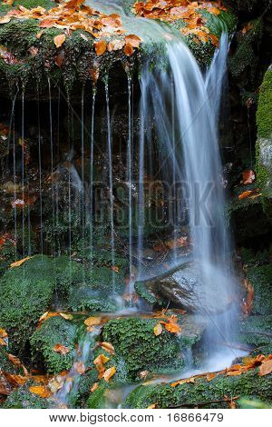 White creek - Most beautiful place in National park Sumava Czech Republic Europe poster