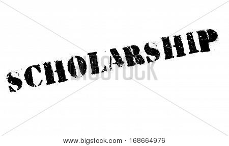 Scholarship stamp. Grunge design with dust scratches. Effects can be easily removed for a clean, crisp look. Color is easily changed.