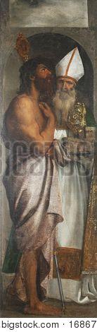 DUBROVNIK, CROATIA - DECEMBER 12: Tiziano Vecellio: St. Lazarus and St. Blaise, Altarpiece in Dubrovnik Cathedral, Croatia on December 12, 2011