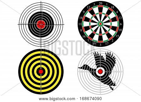 Set targets for shooting practice (4 pieces)