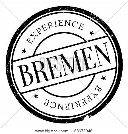 Bremen stamp. Grunge design with dust scratches. Effects can be easily removed for a clean, crisp look. Color is easily changed.