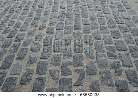perspective old stone floor texture. Photo background