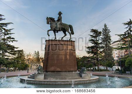 Beautiful Statue in Logrono , La rioja region from Spain