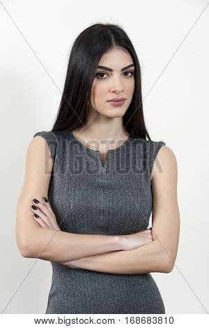 Business Woman With Her Arms Crossed