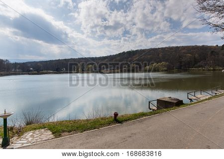 Lake in Dumbrava Sibiului located in Sibiu , Romania