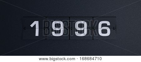 3d rendering flip board year 1996 background