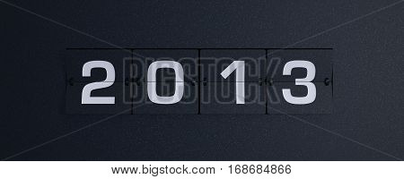 3d rendering flip board year 20013 background