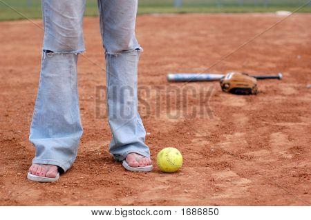 Flips Flops And Softball
