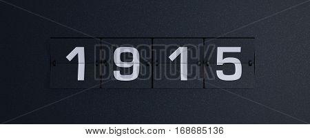 3d rendering flip board year 1915 background
