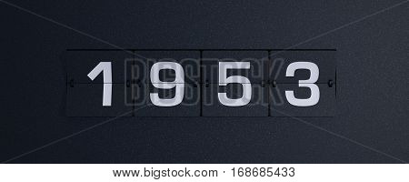3d rendering flip board year 1953 background