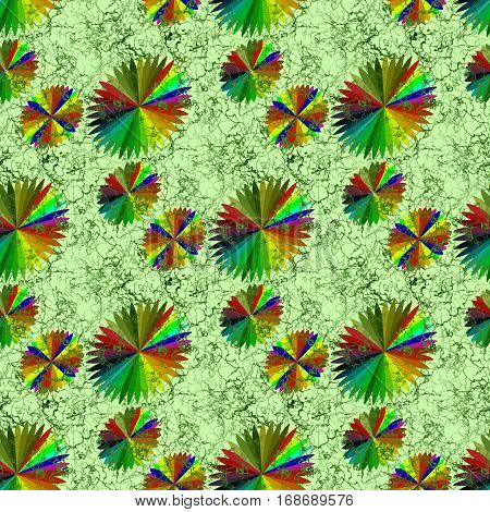 Endless background spectrum of shades of different colors in the form of abstract flowers