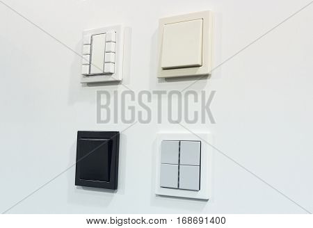 Various light switches at the booth. Industry