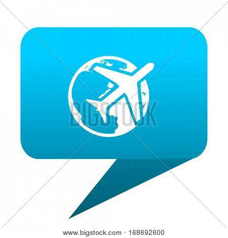 travel blue bubble icon