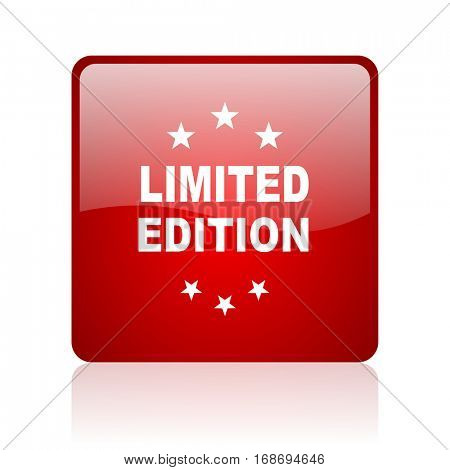 limited edition red square web glossy icon