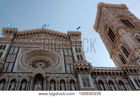 Duomo Santa Maria Del Fiore Florence Italy. The Historic Center of Florence is in the UNESCO World Heritage List.