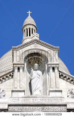 A detail of the Sacre-Coeur church Montmartre, Paris, France.