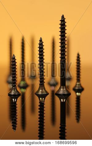 Metal Screws Macro Photo - Screw Background