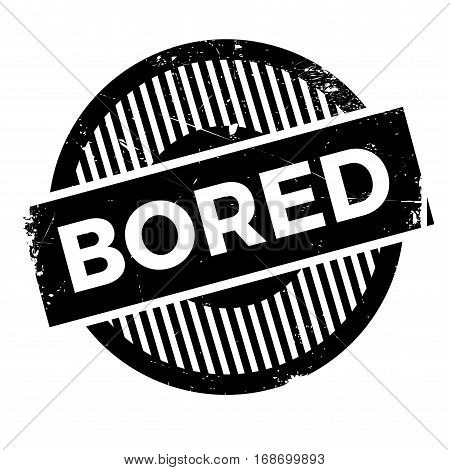 Bored rubber stamp. Grunge design with dust scratches. Effects can be easily removed for a clean, crisp look. Color is easily changed.