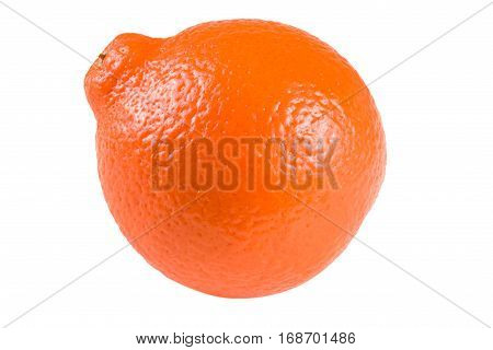 orange tangerine or Mineola isolated on white background.